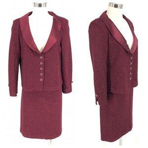 St. John Evening Skirt Jacket Suit Set Women's 10